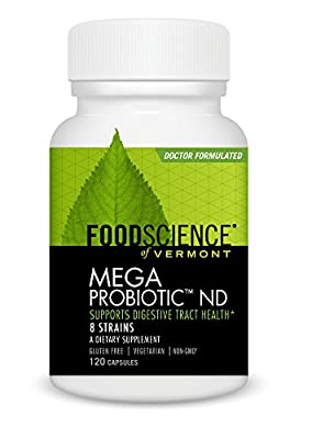 Food Science of Vermont Mega Probiotic-ND Capsules, 120 Count