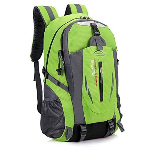 TH&Meoostny Deportes al Aire Libre Bolsas para Acampar Mochilas Escolares Mochila de Viaje 35-40L Senderismo Bolsa de Nylon Impermeable Green