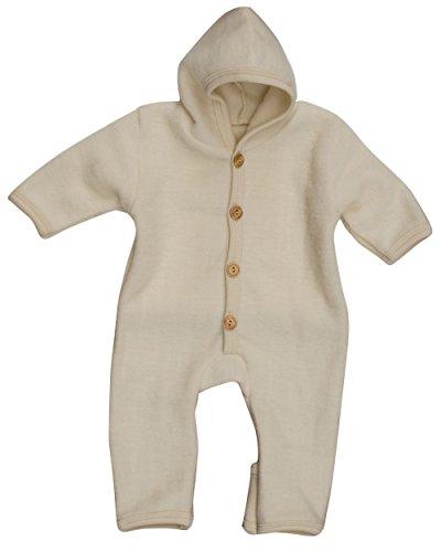 Cosilana, NEU Baby Fleece Overall mit Umschlag, 60% Schurwolle (kbT), 40% Baumwolle (KBA) (50/56, Natur)