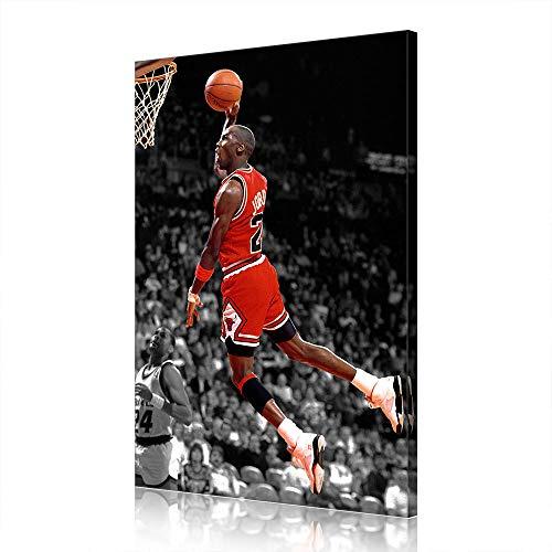 NBA Chicago Bulls di Michael Jordan Canvas Prints Poster Cesto Opera Home Decor (60x90cm,Prints-9)