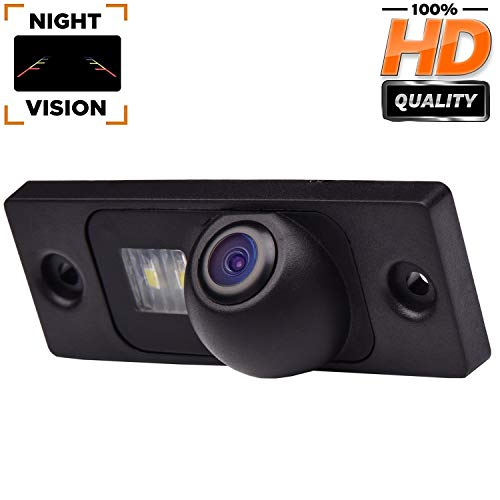 HD 720p Rückfahrkamera für Rückfahrkamera für universelle Monitore (RCA) (Farbe: Schwarz) für VW Caddy B5 B6 Passat 3C 3B Jetta Sagitar Multivan T5 Golf Plus Polo