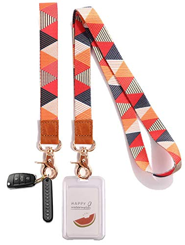 Yesland Wristlet Strap for Key - Set of 2 - Cool Wrist and Neck Strap Key Chain Holder / Lanyard, Perfect for Wallets Cell Phones Cameras(8 & 18 Inches)
