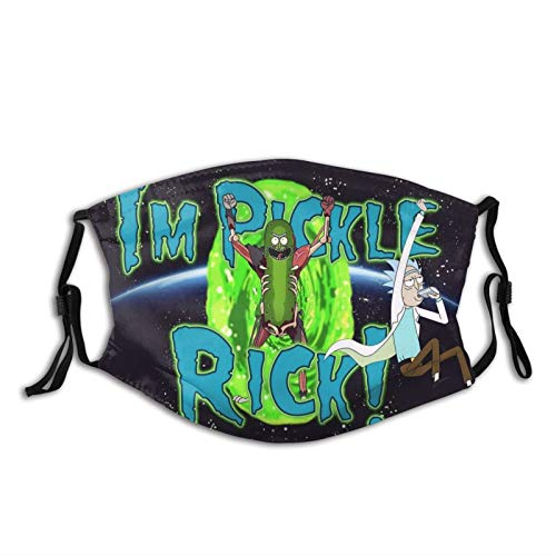Rick & Morty Animated Television Pickle Merchandise Face Mask for Men Women Teens Novelty Psychedelic Accessories Spaceship Cartoon Party Decoration Funny Creative Poster Gift for Fans Collectibles