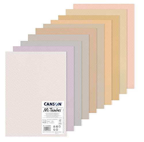 Canson Mi-Teintes Pack A3 10H 60% Abeja 160g Colores Pastel