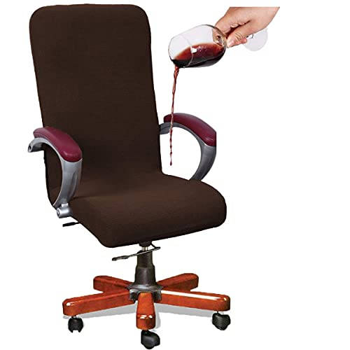 KiKiYe Funda impermeable para silla de oficina, jacquard para silla de oficina, impermeable, universal, estilo simplismo, respaldo alto, funda para silla