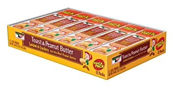 Keebler Toast & Peanut Butter Sandwich Crackers  Pack of 2