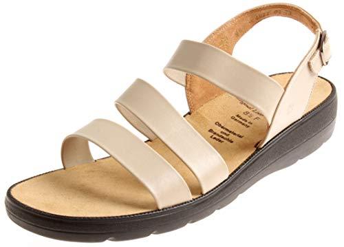 Ganter 5-202971 Damen Ledersandale Schuhe Sandalen Leder Weite F Sommerschuhe Porzella EU 42.5 UK 8.5