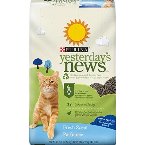 Arena de papel control de olores para gatos Fresh & Clean Purina Yesterday's News