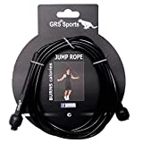 GRS® GRP_2 Skipping Rope (Black)(Pack of 1) for Men Gym, Women, Weight Loss, Kids, Girls, Children, Adult Best in Sports, Fitness, Exercise, Workout