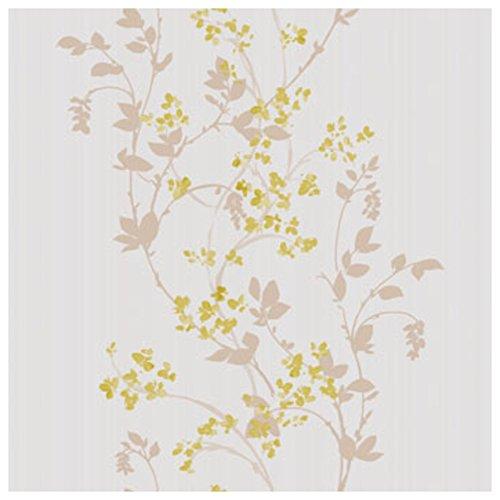 color rosa DansLemur 5052-2 Papel pintado TNT con flores acuareladas de estilo rom/ántico
