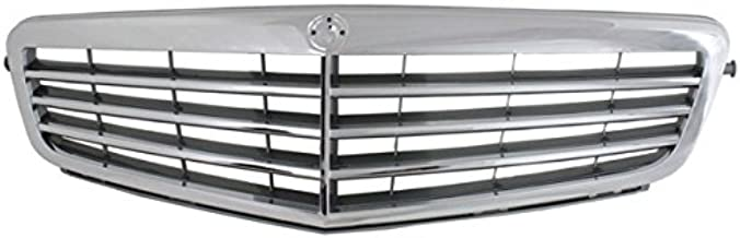 Koolzap For 08-11 C-Class Front Grill Grille Assembly Chrome/Gray MB1200145 20488014837246