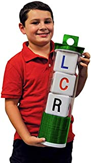 """LCR Big Left Center Right Dice Game - Classic (Green) 18"""" H"""