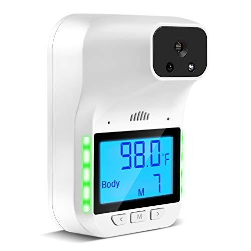 GIMANDI Wall Mounted Thermometer, Non Touch Infrared Thermometer with Alarm and Language Prompt,Suitable for Office Public Places