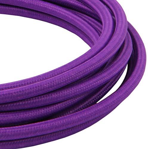 LIVING by colors Textilkabel Flex Cable 3 Meter 2-adriges Kupfer-Kabel für Deckenlampen (Purple)