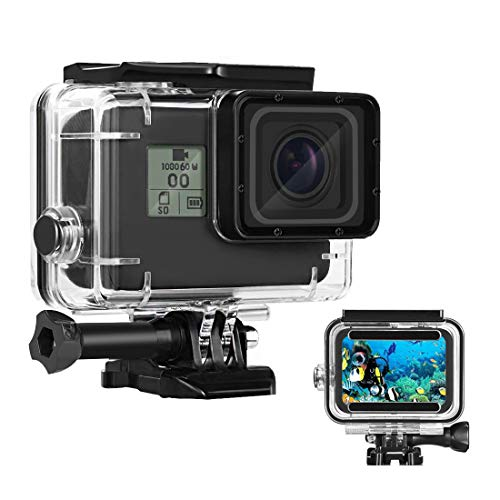 Waterproof Housing Case for GoPro Hero 7/6/5 Black(2018), HONGDAK 169FT/60M Waterproof Case Diving Protective Housing Shell for GoPro Action Camera Underwater Dive Case Shell with Mount & Thumbscrew