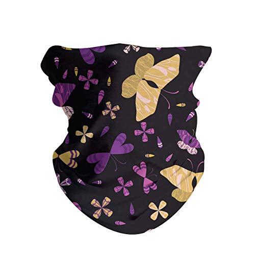 Pack de 2 diademas unisex impresas al aire libre Magic Bandana sin costuras, turbante banda para el pelo, accesorios para moda o deporte, yoga, senderismo y equitación, color Mariposas de colores., tamaño 50 CM x 25 CM
