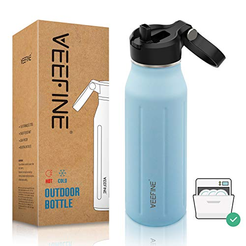 (40% OFF) Vacuum Insulated Water Bottle W/ Straw Dishwasher Safe $7.98 Deal