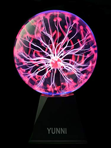 YUNNI Plasma Ball 8 Inch Touch & Sound Plasma Lamp Nebula Sphere Plasma Globe Ball Toy for Decoration, Party, Kids, Festival, Gift.