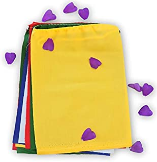 Blank Prayer Flags Set of 10 Flags Put Your own Prayers (Multi Color)