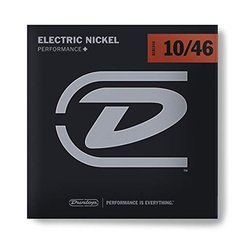 Jim Dunlop DEN1046 - Set di 6 Corde per Chitarra Elettrica, in Nickel, White/Black/Red/Blue