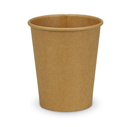 pack2go 1000 Kaffeebecher - 8oz, 200ml, Recycling Kraftpapier, Coffee to go Becher braun, Pappbecher, Becher to Go, Einwegbecher, Kaffeebecher