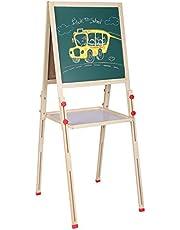 3-in-1 kinderkunstschildersezel, vrijstaande verstelbare kunstschildersezel met accessoires voor kinderen Krijtbord staande schildersezel met bonusmagneet