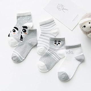 IAMZHL, 5 par/Lote Calcetines de bebé Espesar Dibujos Animados Comodidad Calcetines de algodón recién Nacido niños niño para 0-2 años Ropa de bebé recién Nacido-a16-3M