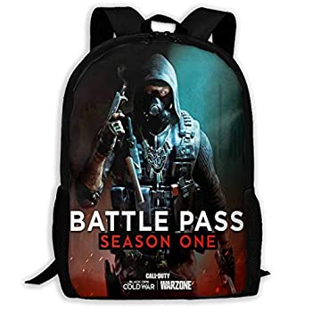 Adult Backpack School Bag Call of Duty Black Ops Cold War Lightweight Large Space Durable Waterproof Backpack Outdoor Sports