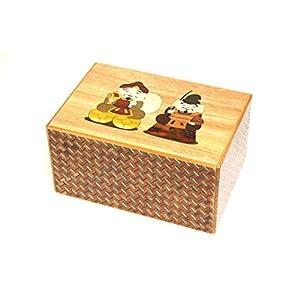 Japanese Puzzle Box 10+4steps 6sun Ebisu and Daikoku