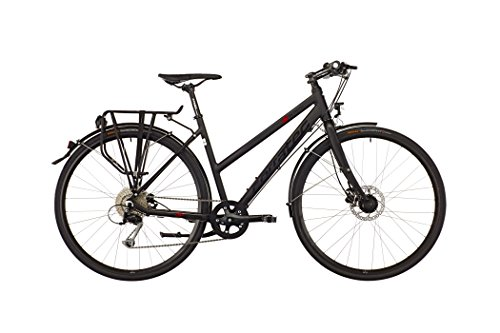Corratec Shape Urban Lady soft black matt/red/black Rahmengröße 48 cm 2016 Trekkingrad