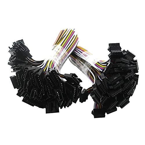 Yinyimei Conector led 5PAIR ~ 100PAIR 2PIN 3PIN 4PIN 5PIN 6PIN JST LED Conectores, Conector Masculino y Femenino Enchufe for DIRIGIÓ Lámpara de Techo Downlight (Color : 6 Pin, Package : 100 PCS)