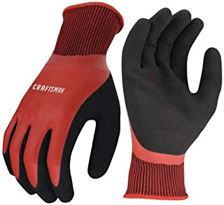 Craftsman Acrylic Lined Waterproof Latex Coated Lightweight Cold Weather Work Gloves (Medium)