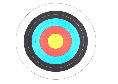 10 dianas de papel de 60 cm de diámetro, para deportes de arco, arco recurvo