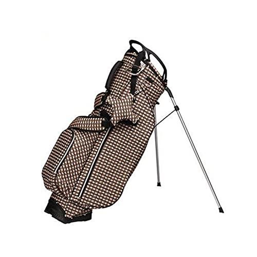 ZQYR Bolso de Golf de Tela de Nylon holeachtralight portátil con Soporte, Base Estable, Fuerte Estabilidad y Durabilidad 423 (Color : Brown)