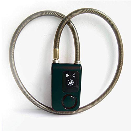 kokokwad Fahrradschloss Anti-Verlust-Alarm Keyless Bike Motorrad Tür Anti-Diebstahlalarm Telefonsteuerung Bluetooth Smart Lock, Schwarz