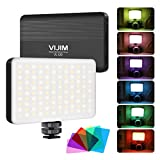 VIJIM On Camera Light, VL120 RGB LED Light for videography, Dimmable Video Light Rechargeable Mini Panel Light for Sony/Nikon/Canon Camera Shooting, Filming/Vlogging, Photo Video Lighting, YouTube etc