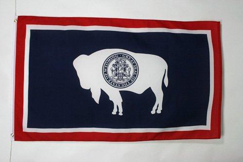 AZ FLAG Drapeau Wyoming 90x60cm - Drapeau Etat américain - USA - Etats-Unis 60 x 90 cm - Drapeaux