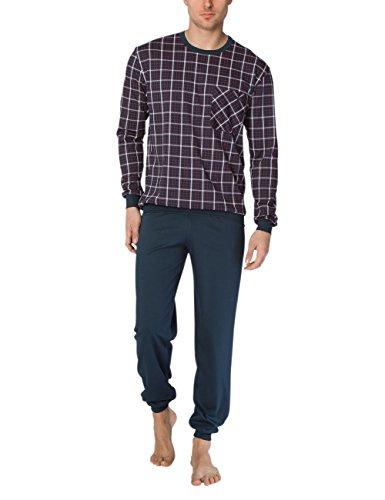 Calida Herren Patrick Pyjama mit Bündchen Zweiteiliger Schlafanzug, Mehrfarbig (Mars Red 116), XX-Large