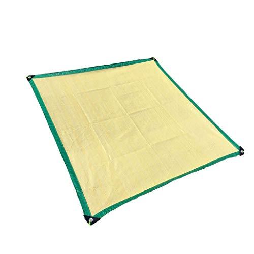 Zjnhl multifunctionele paraplu beige schaduwnet, 6-polige versleutelingsrand voor balkon, glazen dak, tuinkamer, parasol, auto's, lichtdoorlatend, anti-stof-FI 3x3m