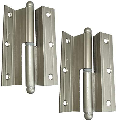 AERZETIX: 2x Bisagras de pernios para puertas ángulo 100х60х2.2mm aluminio (Izquierda)