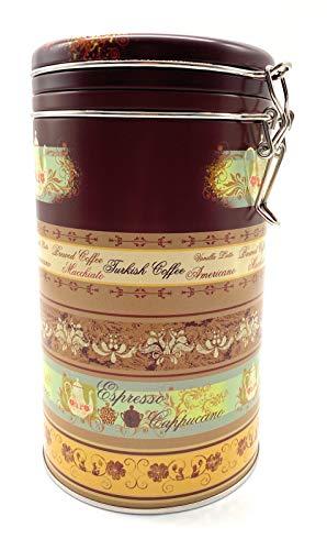 Perfekto24 Aufbewahrung Kaffee 500g - Kaffeedose mit Bügelverschluss hält Kaffeebohnen/Pulver länger frisch - Vorratsdose mit Aromaverschluss (Luftdicht) - Nostalgie Kaffeebehälter 500g