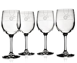 liviliga aveq portion control wine glasses with pour lines