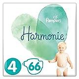 Pampers Harmonie Talla 4, 66 Pañales 9-14 kg