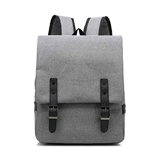 QXbecky Retro marée filles en plein air toile sac à dos sac mode sac à dos en plein air voyage sport sac noir sac à dos affaires hommes sac à dos ordinateur portable gris clair 29x10.5x38cm