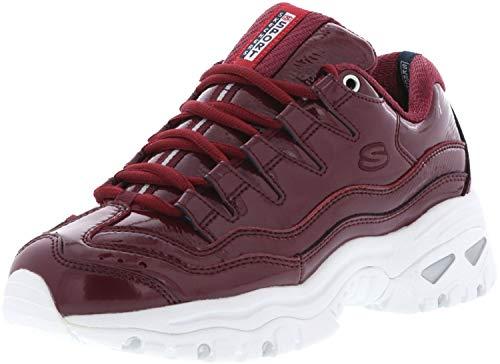 Skechers 13405/BURG Energy-Thriller Knight Damen Sneaker weinrot/weiß, Größe:40, Farbe:Rot