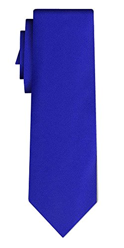 Cravate unie solid royal blue twill texture/teflon