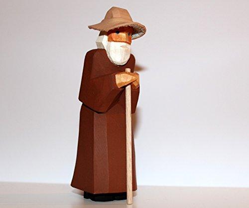 Lotte Sievers-Hahn Krippenfiguren * Schäfer mit Hut im Baumwollbeutel
