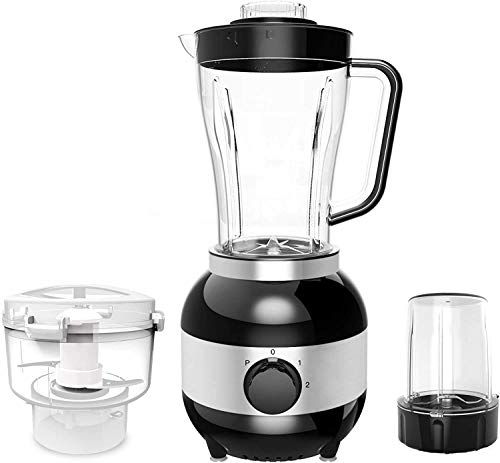 AKAMAS Blender Smoothie Maker 22000 RPM High Speed Blender with 3-speed control and 1800ml glass jar 3 sharp titanium alloy blades for ice/nuts/soup/sauce, 350W, black, black Baibao (Color : Black)