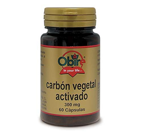 Carbón vegetal activado 300 mg. 60 capsulas