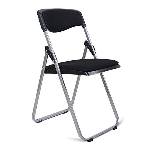 QIDI Chaise pliante Tabouret pliant Coussin en éponge en acier au carbone Simple moderne pliable Facile à transporter avec dossier Réunion de formation à l'ordinateur de bureau confortable et conforta